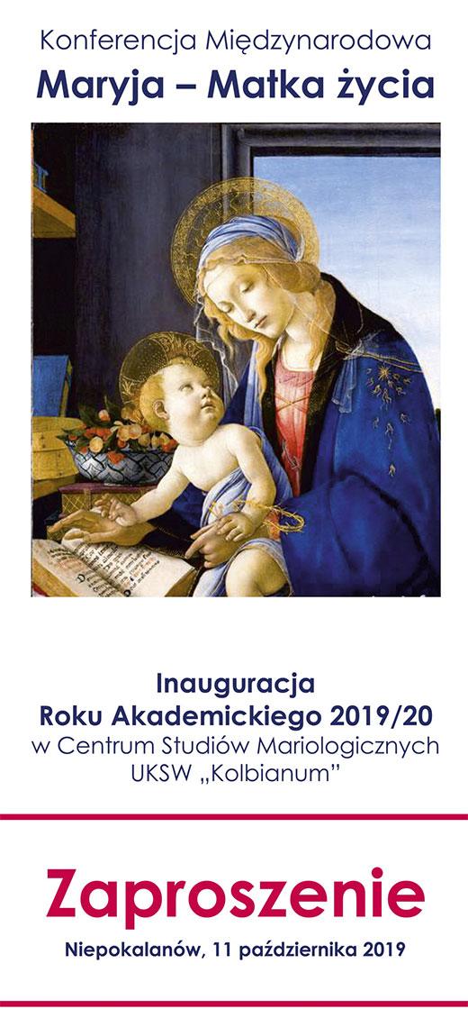 Maryja Matka życia zaproszenie