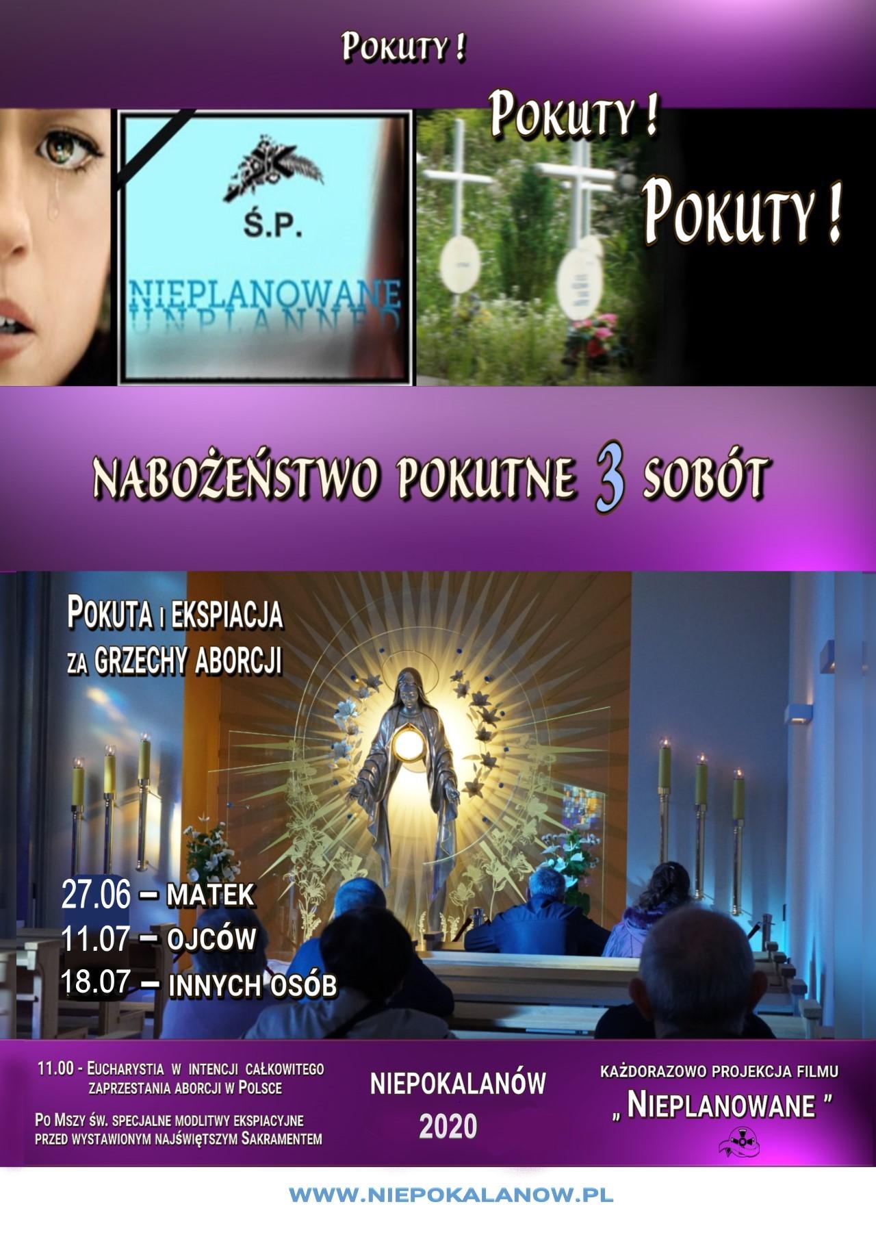 Nabożeństwo Trzech Sobót - plakat