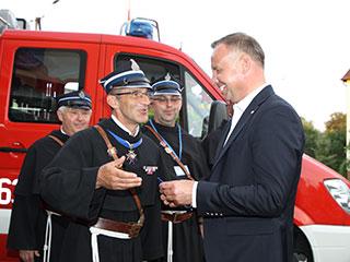Spotkanie z braćmi strażakami z OSP Niepokalanów